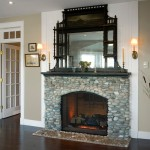 Stone Fireplace in Entry