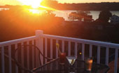 Roof Top Deck with View of Harpswell Sound